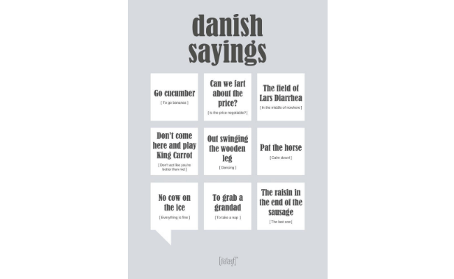 Dialægt plakat – danish sayings
