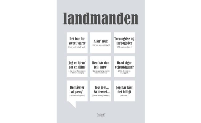 Dialægt plakat – landmanden