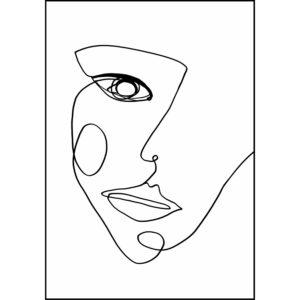 Face line 1 Plakat med ramme