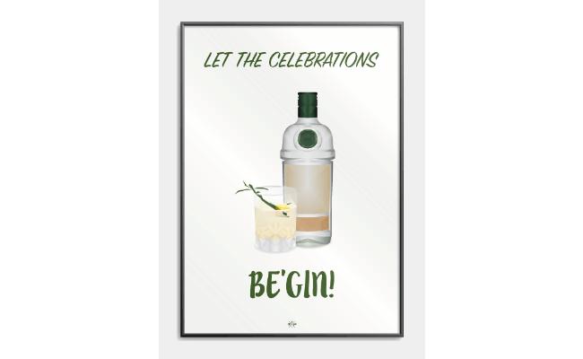 Gin citat plakat