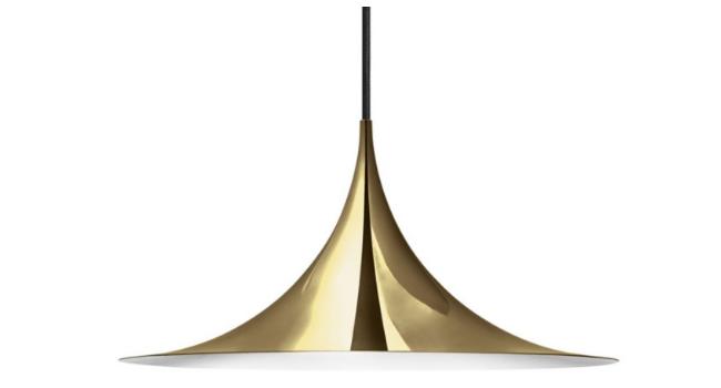 Gubi Semi Pendel Messing Ø47 cm – tidløs lampe