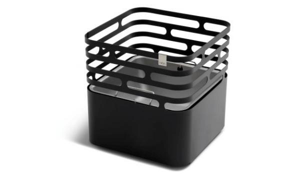 Hofats Cube balkurv grill sort 43x43 cm