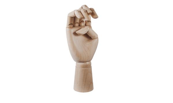 Hay Wooden Hand medium med bevægelig led
