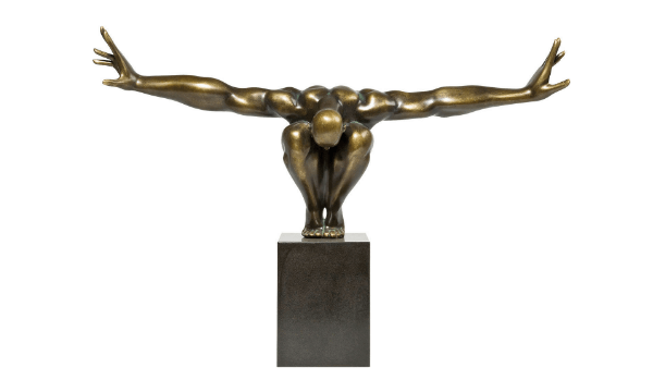 KARE DESIGN Skulptur, Athlet Bronze – skulptur i bronze