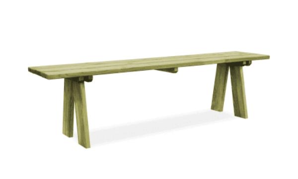 vidaXL havebænk i imprægneret fyrretræ – Bedst til prisen