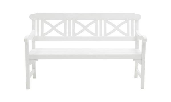 Softcross havebænk – Elegant hvid havebænk