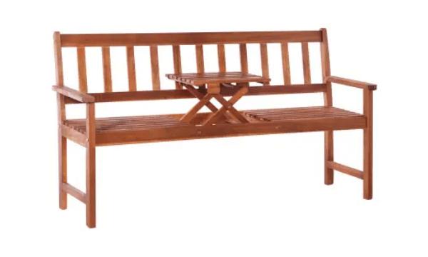 vidaXL 3-personers havebænk med bord – Havebænk med bordplads
