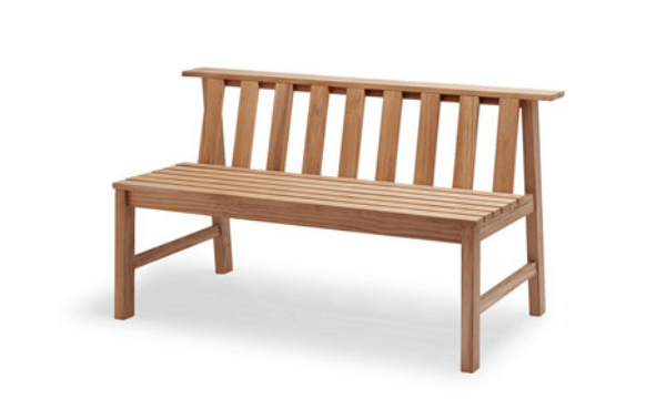 Skagerak Plank Bench – Skandinavisk havebænk teak