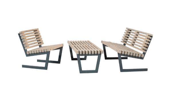 PLUS - Siesta - Mobelsaet - Sofa, stol, stort bord - drivtommerfarve