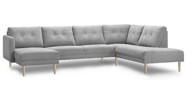 City U-sofa m. chaise til højre