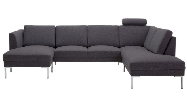 Dublin U-sofa med nakkestøtte