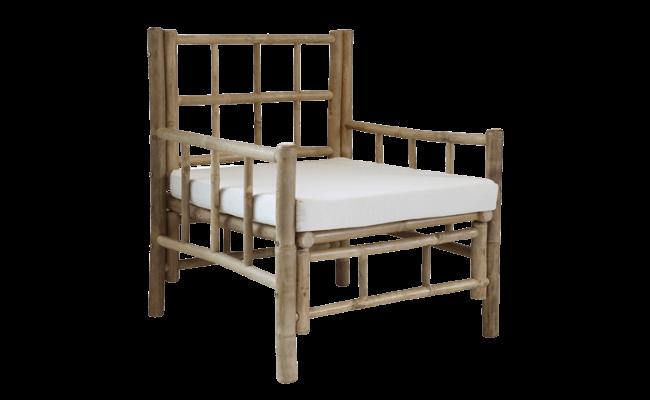 Bambusstol med hynde alatnmøbler